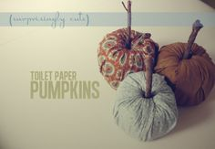 DIY FALL DECOR | Thrift Town Thrift Stores - Toilet paper roll pumpkins