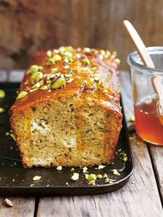 zucchini, ricotta, pistachio and chia cake from donna hay Fresh + Light issue - Gluten Free Delicious Desserts, Dessert Recipes, Yummy Food, Donna Hay Recipes, Biscuits, Almond Recipes, Chickpea Recipes, Raw Recipes, Diabetic Recipes