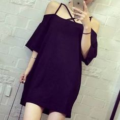 Buy Pura Strappy Off-Shoulder Tunic at YesStyle.com! Quality products at remarkable prices. FREE WORLDWIDE SHIPPING on orders over US$ 35.