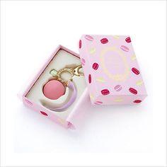 LADUREE-Japan-Bag-Chain-Key-Ring-Macaron-Rose-Pink-w-Original-Box