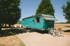 One way to experience the beauty of Oregon's wine country is by booking accommodations at The Vintages Trailer Resort in Dayton, Oregon where you can choose between several classic trailers including this 1954 Anderson 315-TB.