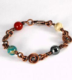 Spiral Link Connector Bracelet Wire Sculpture, Dawn Horner Tutorial