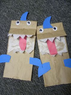 Shark Paper Bag Puppet  Easy Craft for kids, toddlers, preschoolers to do