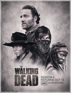 "The Walking Dead: The Samurai ""Michonne"".  The Leader ""Rick"".  The Archer ""Daryl""  The Kid ""Carl"" ~ S4"