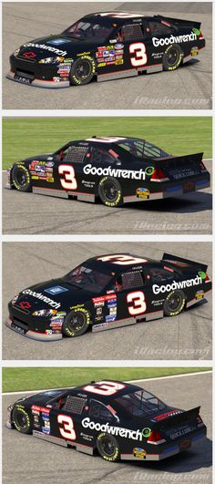 """Fan creation on Papyrus Games """"Trading Paint,"""" the 2013 GM Goodwrench Chevrolet Impala/Lumina SS HYBRID COT, with special forward slanted, stylized - pinnermore Nascar Crash, Nascar Race Cars, The Intimidator, Truck Memes, Nascar Diecast, Best Muscle Cars, Sports Memes, Chevrolet Chevelle, Dale Earnhardt"""