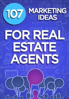See 107 Proven Real Estate Marketing Ideas for Agents and Brokers to grow their . - See 107 Proven Real Estate Marketing Ideas for Agents and Brokers to grow their business. This list - Real Estate Career, Real Estate Humor, Real Estate Leads, Real Estate Business, Selling Real Estate, Real Estate Tips, Real Estate Broker, Real Estate Sales, Real Estate Investing