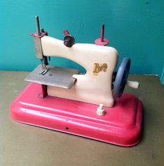 Vintage Antique Toy Sewing Machine by FashionanticVintage on Etsy, $79.00