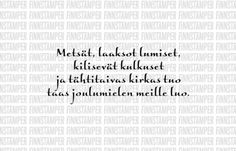 FinnStamper-leimasin Metsät, laaksot lumiset 01