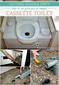 How to Use {& Care For} Your Pop Up Camper Cassette Toilet
