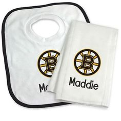 Boston bruins welcome sign personalized with name personalized our officially licensed personalized boston bruins bib and burp cloth set is an excellent gift for negle Images