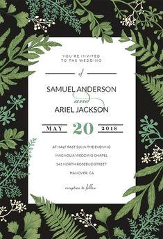 Botany Final - Wedding Invitation Template
