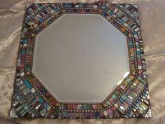 MOSAIC  MIRROR  Sixteen Inch Square Mosaic by victoriacharlotte