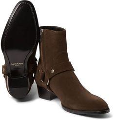 Saint Laurent - Suede Harness Boots - Preacher Styles