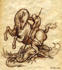 St. George Sketch by *KatePfeilschiefter on deviantART