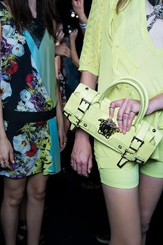 Backstage Versace Women's Collection Spring Summer 2014