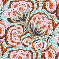 ROWAN - Oasis 4 - färgmix - Folklore - Dekotyger blommor - Patchwork - Tyger - Bomullstyg med blomstermotiv - Amy Butler - tyg.se