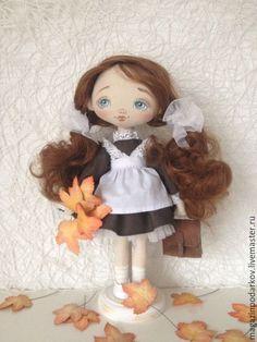 Купить Кукла Школьница - коричневый, кукла ручной работы, кукла в подарок…