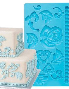 Y&XL&H Cake Decoration Tools Baroque Fondant and Gum Paste Mold Cake Decorating Border Silicone Mold Silicone Bakeware, Silicone Molds, Cake Mold, Gum Paste, Fondant, Cake Decorating, Cupcake, Decorative Boxes, Desserts