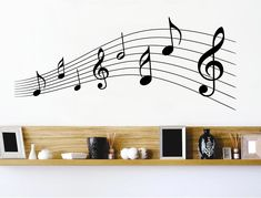 Music notes wall sticker Home Decor Wall Art, Room Decor, Childrens Wall Stickers, Any Music, Music Notes, Accent Pieces, Wall Colors, Your Space, Interior Decorating