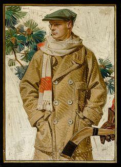 "J.C. Leyendecker / 1920 ""Ready for Hockey"" / Kuppenheimer Clothing"