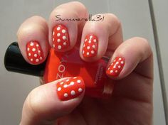 Red and white dotticure my favorite color combo!