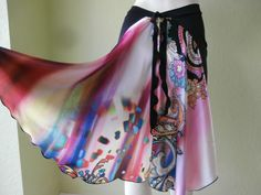SATIN Tail Argentinian Tango Skirt Size fits US by COCOsDANCEWEAR