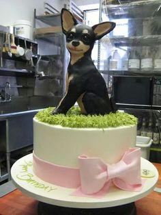 Artful cake by Manhattan based cook designer Sylvia Weinstock Fancy Cakes, Cute Cakes, Beautiful Cakes, Amazing Cakes, Puppy Cake, Gateaux Cake, Animal Cakes, Dog Cakes, Cake Blog