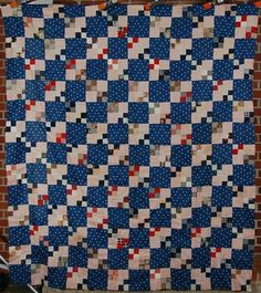 vibrant Double Four Patch Postage Stamp quilt top Old Quilts, Antique Quilts, Scrappy Quilts, Vintage Quilts, Mini Quilts, Baby Quilts, Postage Stamp Quilt, Postage Stamps, Primitive Quilts