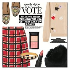 """""""Rock The Vote in Style"""" by anna-anica ❤ liked on Polyvore featuring Simone Rocha, Wet n Wild, Marc by Marc Jacobs, Halcyon Days and MAC Cosmetics"""