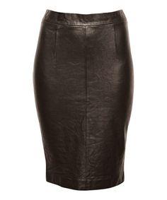 Look at this #zulilyfind! Black Marysville Leather Skirt - Women #zulilyfinds