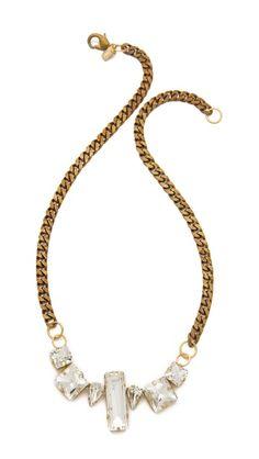 Fallon Jewelry Crystal Chain Choker