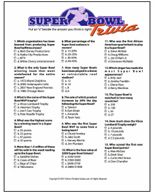This site has tons of Super Bowl game ideas - great for half time!