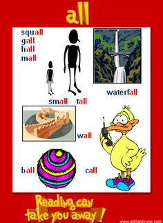 'all' phonics poster. Great for Word Walls.