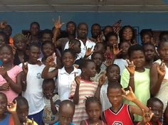 Patients and families at a SEE eye clinic in Monrovia, Liberia #givesight www.seeintl.org