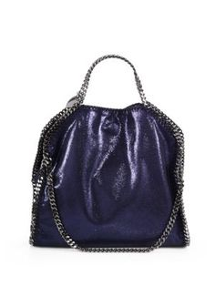 STELLA MCCARTNEY Falabella Small Fold-Over Tote. #stellamccartney #bags #shoulder bags #hand bags #suede #tote #lining #