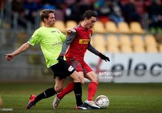 David Moberg Karlsson of FC Nordsjalland and Anders Due of FC. David, Running, Sports, Hs Sports, Keep Running, Why I Run, Sport