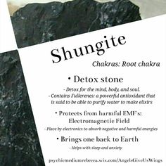 Shungite crystal meaning                                                       … Crystal Magic, Crystal Uses, Crystal Guide, Crystals And Gemstones, Healing Crystals, Crystals Minerals, Healing Stones, Stones And Crystals, Gem Stones