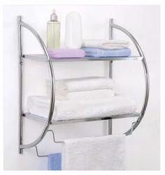 organizador de toallas acero cromado