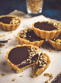 No Bake Chocolate Tarts Recipe| How To Make Chocolate Ganache Tart