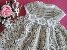 Crochet Baby Dress Crochet Baptism Baby Girl Dress Christening Gown Baby  Shower Baby Girl Outfit Knitted Baby Dress Newborn Baby Gift 88e575fa9b3f