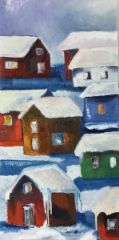 Silent village Winter, Album, Painting, Art, Art Background, Painting Art, Kunst, Paintings, Gcse Art