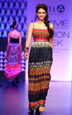 LFW. A fusion wear by Anita Dongre for her brand Global Desi. Description by Pinner Mahua Roy Chowdhury.
