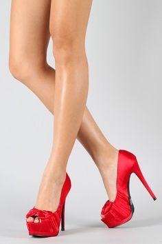 6493209fd7f2 every girl needs a pair of red heels... Round Toe Pumps