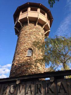 Rozhledna Kovářka in Mladá Vožice, Jihočeský Prague, Lookout Tower, Czech Republic, Pisa, Building, Places, Outdoor Decor, Travel, Landscape