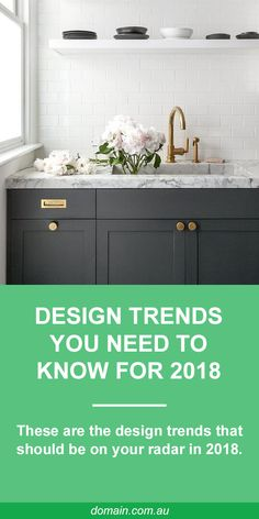 "In interior style is all about rejecting conformity to achieve a particular ""look"" and embracing imperfections. Individual touches have never been so big and anything with a touch of whimsy gets full marks. Basically, 2018 is bringing about the death Diy Cupboards, Dark Cabinets, Pavillion, Laundry Design, New Kitchen, Kitchen Small, Kitchen Sink, Laundry In Bathroom, My Living Room"