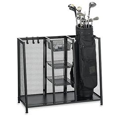 Shop for golf organizer at Bed Bath & Beyond. Buy top selling products like Metal Two Bag Golf Organizer and undefined. Shop now! Garage Organization, Garage Storage, Bag Storage, Locker Storage, Sports Storage, Storage Units, Organizing Tips, Storage Area, Tool Storage