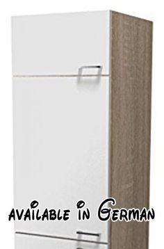 B00E5YVQMI : Flex-Well 00007528 Geräteumbauschrank Samoa weiß Sonoma Eiche 60 x 200 x 575 cm. Küchenmöbel Made in Germany. Küchenmöbel zur Selbstmontage inkl. detaillierten Aufbauanleitungen. Front aus 16 mm Qualitätsspannplatte/ Melamin beschichtete pflegeleichte Kunststoffoffoberfläche/ umlaufende Dünnkante. Front: Weiss/ Korpus außen: Sonoma Eiche/ Korpus innen: Weiss/ Sockel: Sonoma Eiche. Ausstattung: 3 Drehtüren 1 Einlegeböden (1 Nische (Höhe 88 cm)