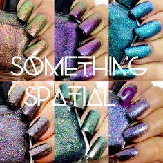 MED Something Spatial: Missions (Multichrome Flakie Topper Custom Nail Polish)