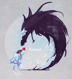 An apple for the death.. ~ League of Legends - Kindred