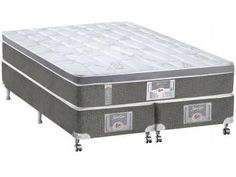 Cama Box (Box + Colchão) Queen Size Mola - 158x198cm - Castor Silver Star 3D Bonnel One face
